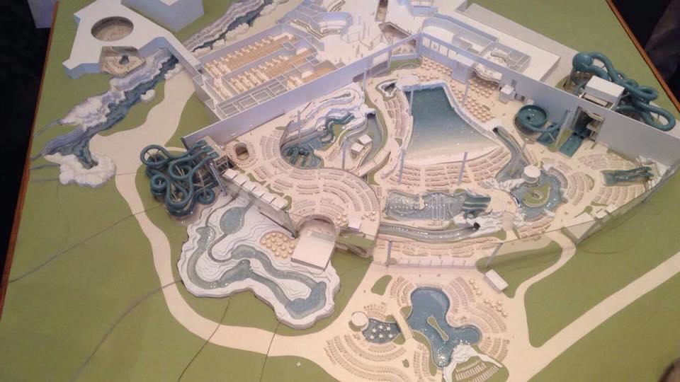 Maquette parc aquatique Rulantica
