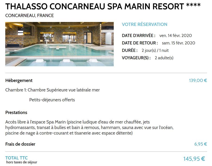 Séjour thalasso en hôtel & spa 4* à Concarneau en Bretagne